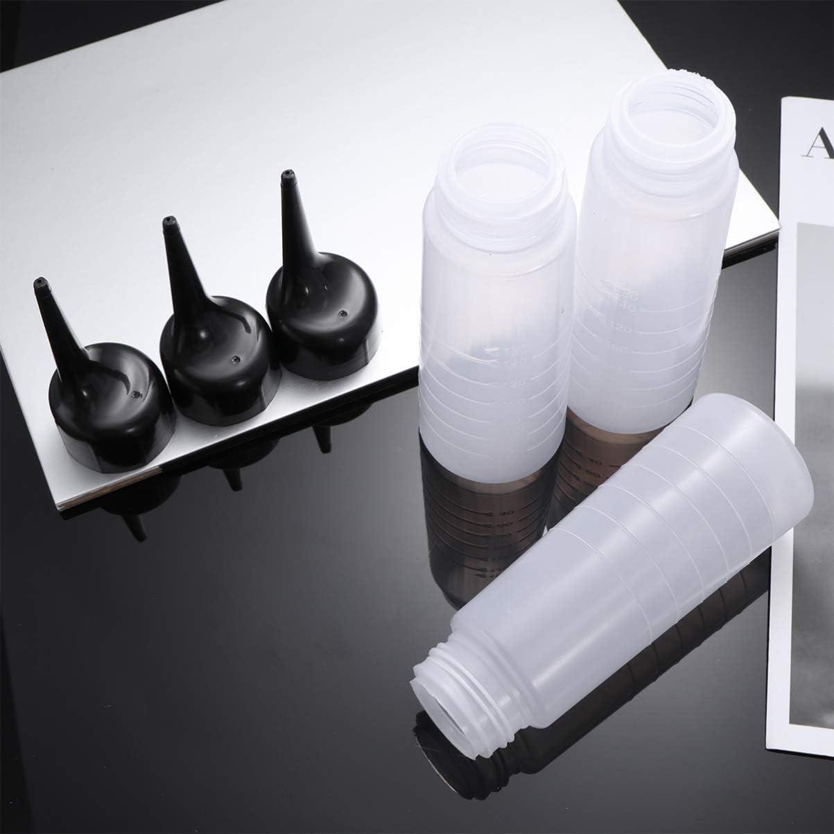 Applicator Bottles Hair Coloring Bottle Salon Hair Dye Bottle Needle Tip Glue Bottle for Salon 3pcs
