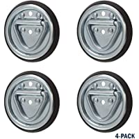 Sierra Pacific Engineering Surface Mount Tiedown Anchors 1,200 lb Capacity 2-Hole D-Ring 4 Pack