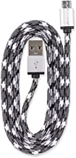 360 Electrical QuickCharge Cable Micro USB trenzado, 3'/0.9m, Negro