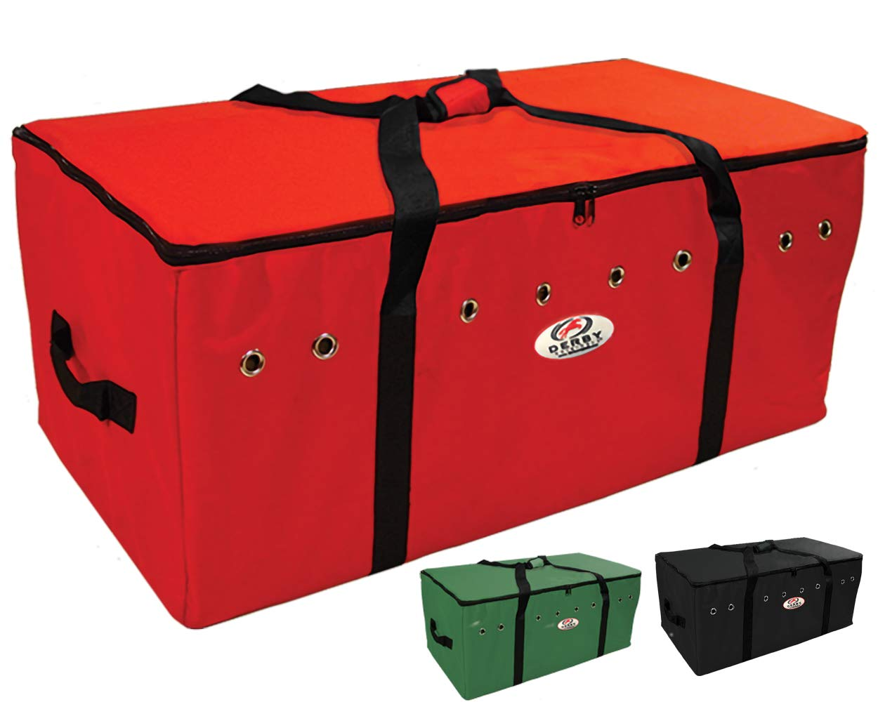 Derby Originals Heavy Duty 3 Layer Bottom Full Bale Bags, 44'' x 22'' x 18'', Red