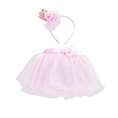 FENICAL Princesa de Halloween niñas Vestido de Media Falda de Tul ...
