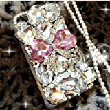 davided™Pink luxury Bling Diamond Gem Flower Crystal Hard Case Cover For Various Phones (Motorola RAZR i xt890 / RAZR M xt905 xt907 )