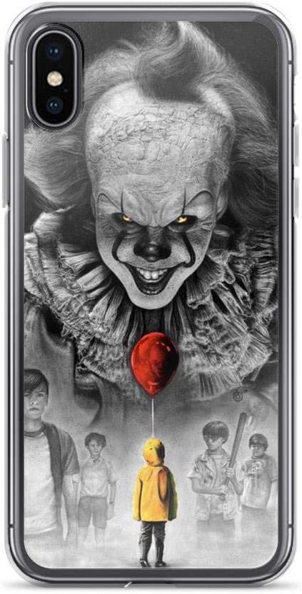 Mnertsa Compatible with iPhone 6/6s Pure Clear Case Cases Cover IT Pennywise Balloon Losers Club Stephen King Halloween