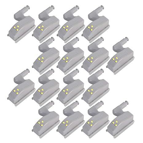 COSORO - 16 bisagras LED con sensor para armarios en toda la casa