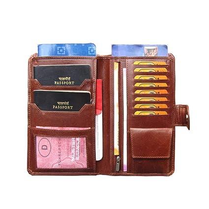 Abys rakshabandhan gift genuine leather brown unisex passport wallet abys rakshabandhan gift genuine leather brown unisex passport walletbusiness card holder colourmoves