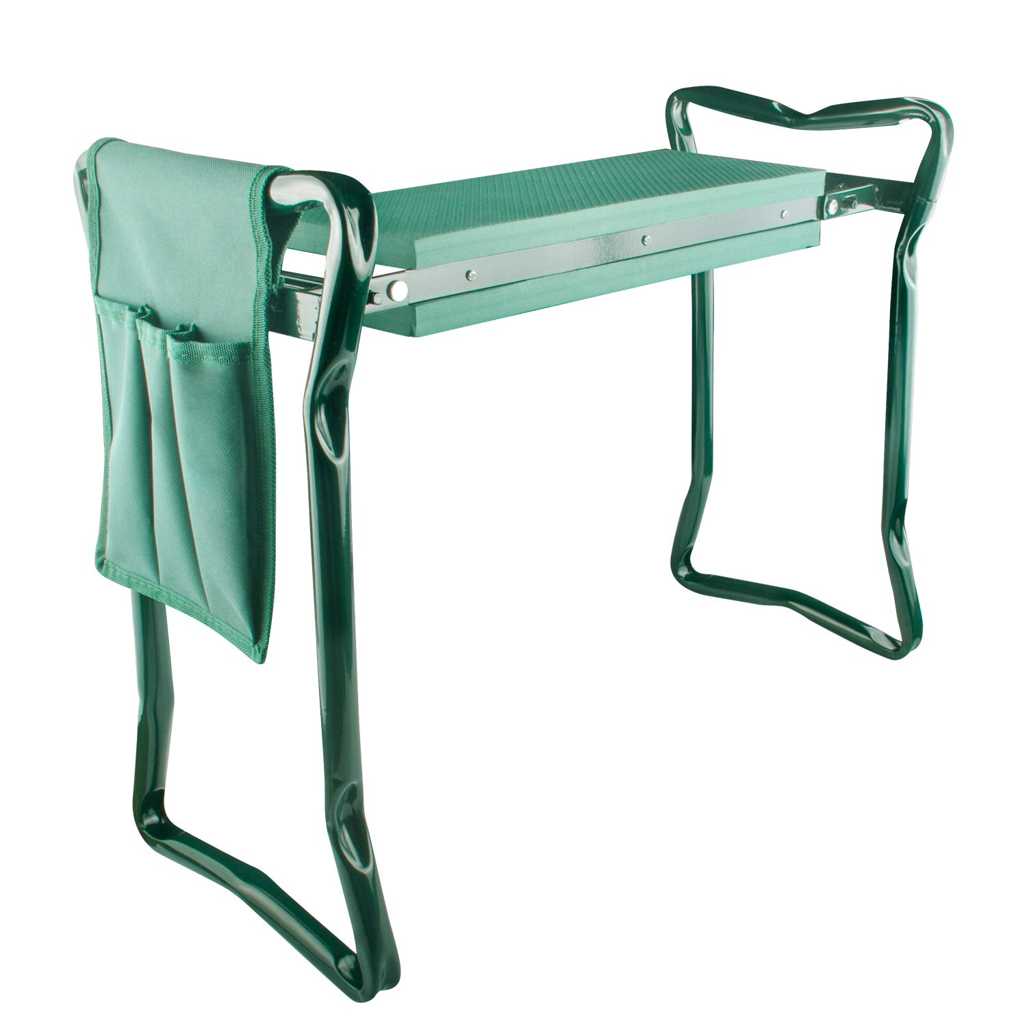 Fancy Buying Garden Kneeler and Seat - Foldable Stool for Ease of Storage - EVA Foam Pad - Sturdy and Lightweight - Bench Comes with A Free Tool Pouch!