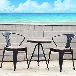 Conjunto Muebles Terraza, Set Bistro Hierro Fundido 2 sillas Muebles para jardín, terraza, balcón: Amazon.es: Deportes y aire libre