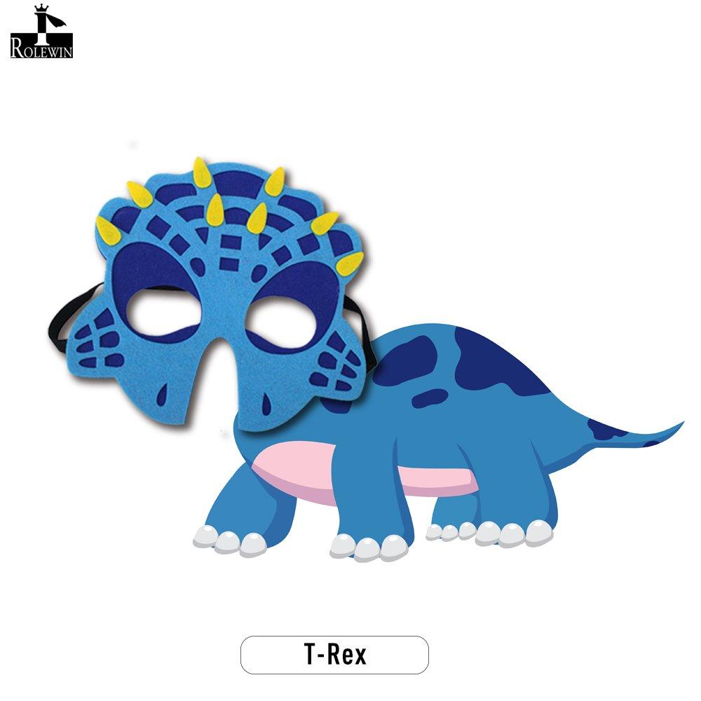 Niños Máscaras de animales de dinosaurio Felt Party Masks para Rol Cosplay Fiesta de cumpleaños Favorecen los disfraces (Paquete de 5): Amazon.es: Juguetes ...
