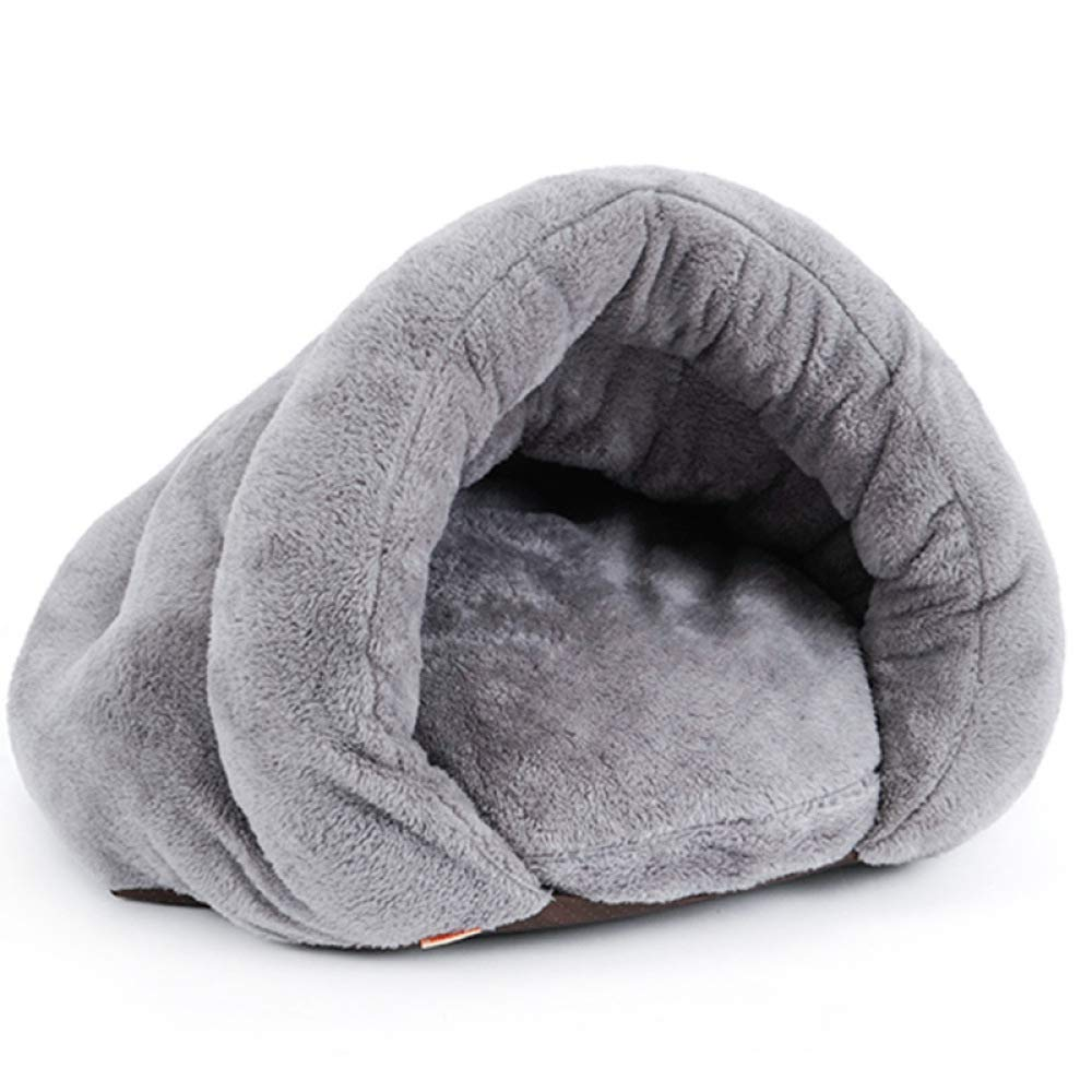 Grey S Grey S Jiaa Removable Cat Sleeping Bag,Plush Closed Pet Mat