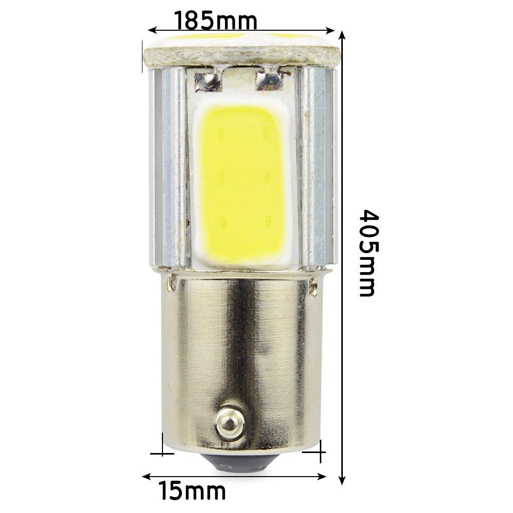 Safego 2 x 1157 BAY15D Ampoules LED 2835 42SMD Lampe Pour la Lumi/ère Invers/ée de la Sauvegarde Arri/ère Feu de Freinage Blanche 12V 6500K