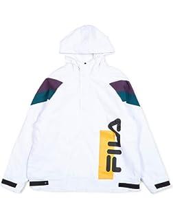 2f92da1ffbf2 Fila Tatum Hooded Windjacket Black - Black - S: Amazon.co.uk: Clothing