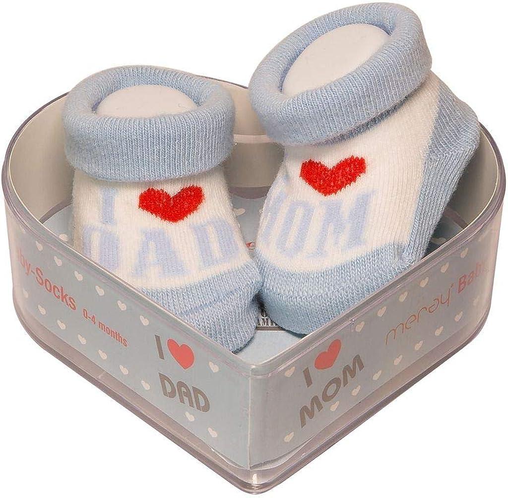 Calcetines Para Bebés Recién Nacidos 0-4 Meses | Algodón Grueso Y Empuñaduras Antideslizantes | Nuevo Juego De Regalo Perfecto Para Duchas Para Bebés | Azul