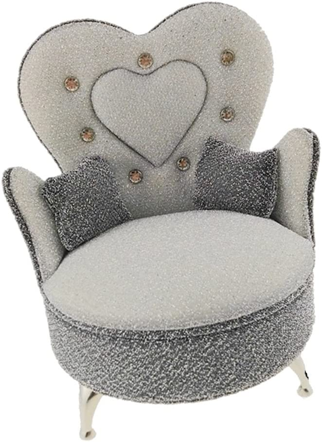 Toygogo 1//6 Scale Sofa Armchair Furniture For Action Figures 12inch Doll Gray+Silver