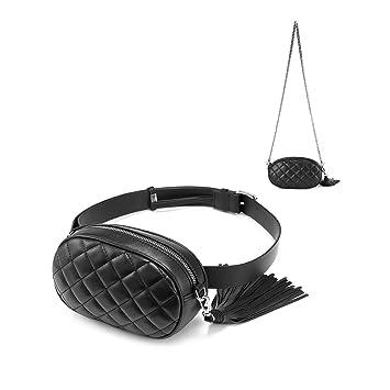 7b7b59b99ca Fanny Packs for Women Fashion Waist Pack Belt Bag Chest Purses Hip Purse  Bum Bags Designer Crossbody Shoulder Chain Tassel PU Leather Quilted Girls  ...