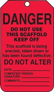 Accuform TSS101CTP Scaffold Status Tag, Legend