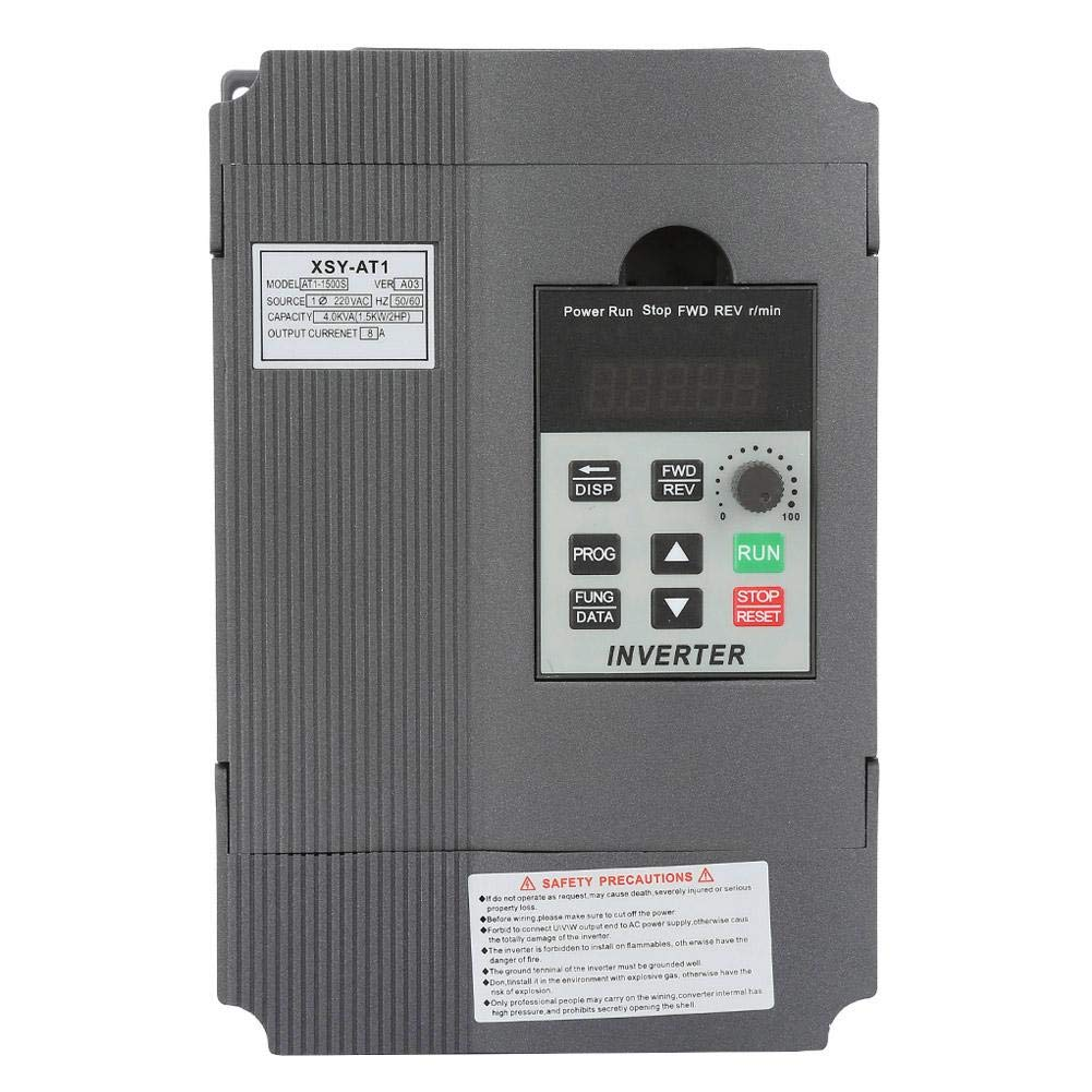 Variable Frequency Drive, 220V Single-Phase Variable Frequency Drive VFD Speed Controller for 3-Phase 1.5kW AC Motor by Zouminy