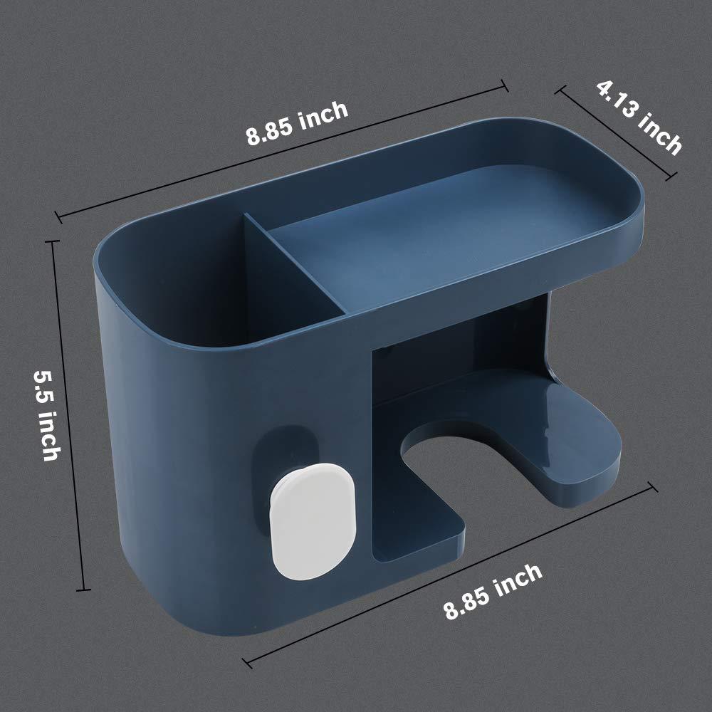 No Drilling Styling Tool Organizer Storage Basket for Bathroom Give 10 Hooks 1 Soap Holder AriTan Wall Mounted Hair Dryer Holder Rack