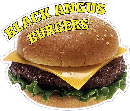 "Hamburger Burgers Restaurant Concession Food Truck Vinyl Sticker Decal 20/"""