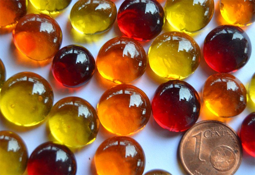 100 g trasparenti circa 60 pezzi 10-13 mm Pietre decorative tonde colori misti sulle tonalit/à del sole