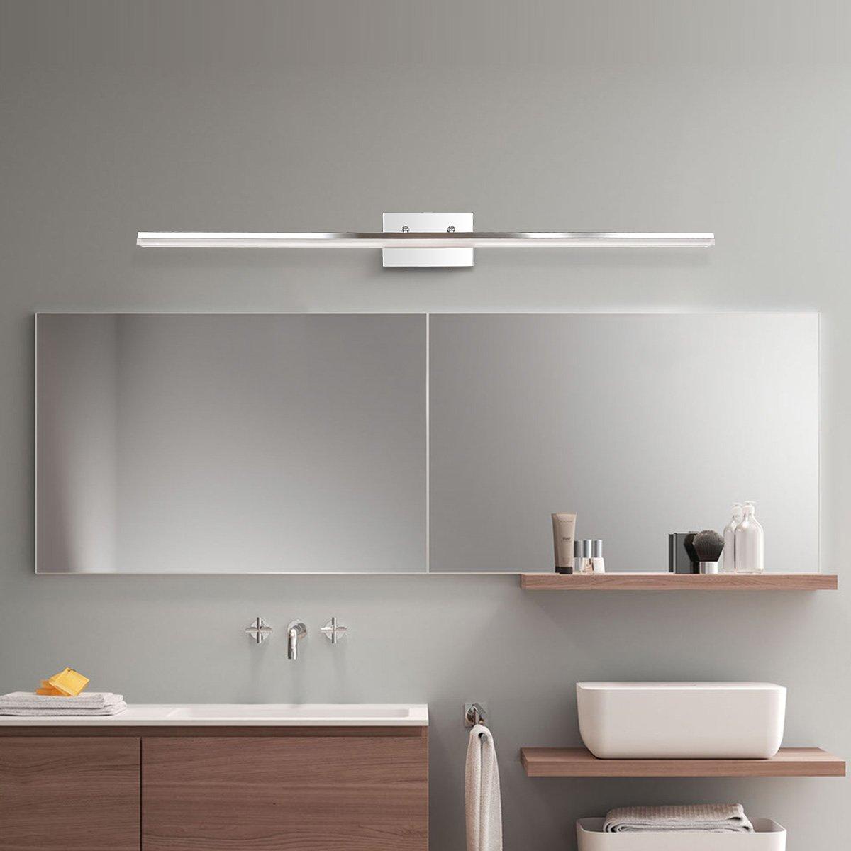 mirrea 48in modern LED vanity light for bathroom lighting dimmable 46w warm white