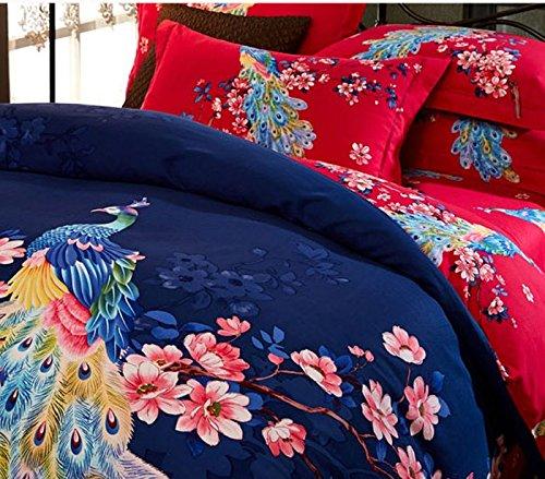 DHWM-Pure Cotton thick woolen mill wedding bedding 4 piece set, full comforter set linens ,1.5m
