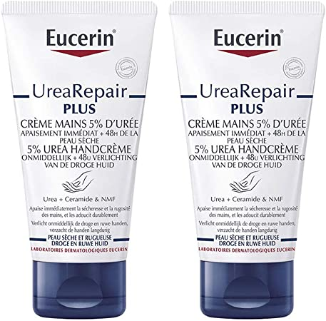 2 X Eucerin Intensive Hand Cream 5 Urea 75ml
