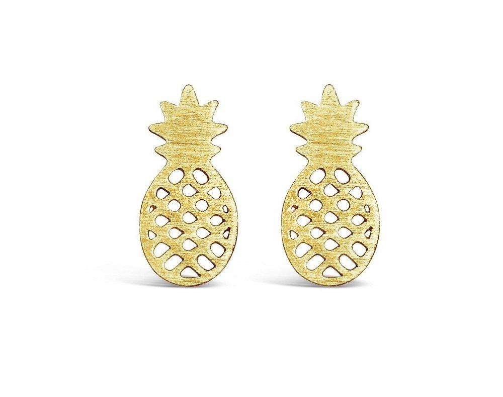 Yacht & Smith Tropical Pineapple Stud Earrings