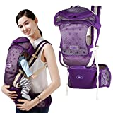 Kidsidol Newborn Waist Stool 3-In-1 Ergonomic Baby Carrier Hip Seat Backpack Detachable Safe Durable for Indoor Outdoor Use Suitable for 0-3 Years Baby (purple)