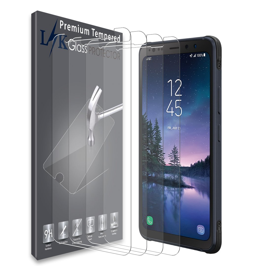 LK [4 Pack] Screen Protector for Samsung Galaxy S8 Active, [Tempered Glass] with Lifetime Replacement Warranty [Not Fit for Galaxy S8 / S8 Plus Model]