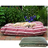 Outdoor Dog Bed - CPC Jamison Indoor/Outdoor Striped Bed for Pets, 42-Inch, Red