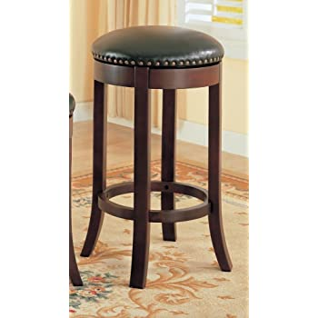Amazon Com 24 Quot Swivel Counter Stools With Upholstered