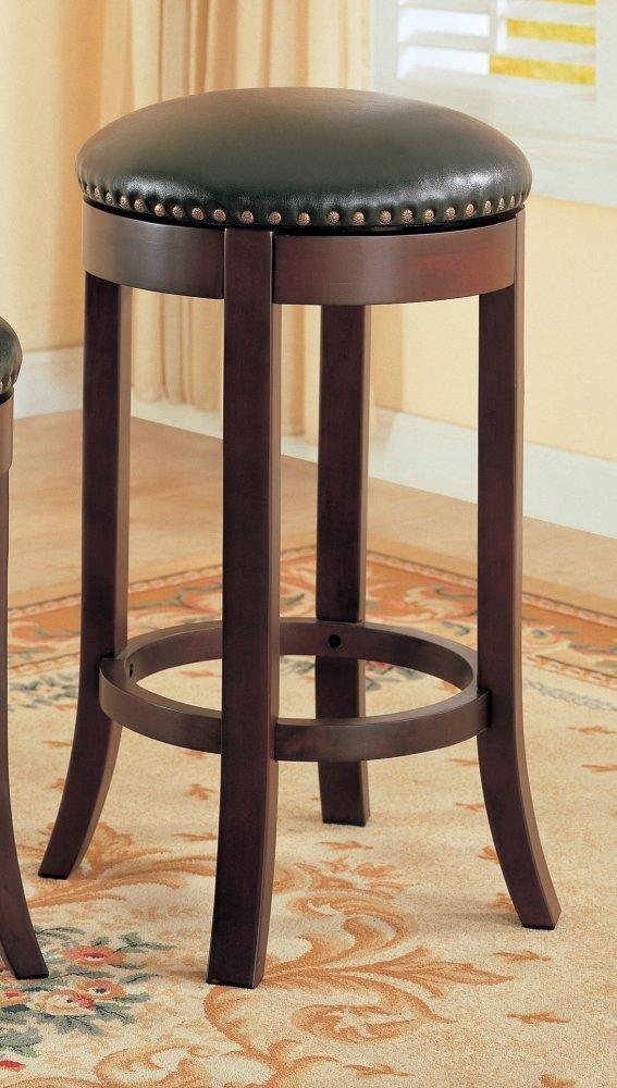 amazon com coaster casual walnut 29 swivel bar stool with