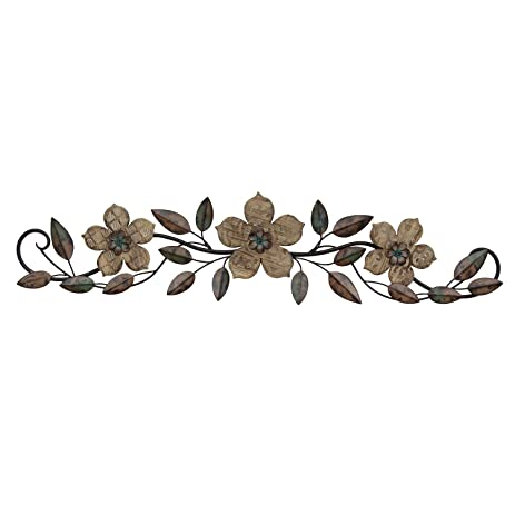 Amazon.com: Stratton Home Decor S01207 floral Patterned Wood Over ...