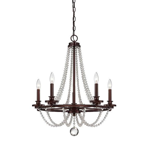Amazon.com: 5 lámparas de araña con acabado en bronce mohico ...
