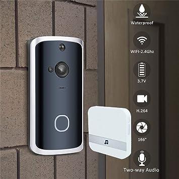 WI-FI Ring Video Doorbell Camera Security PIR Motion Sensor Door Bell Intercom A