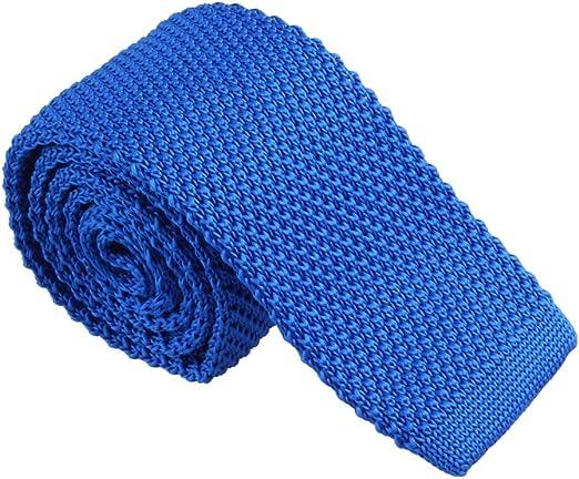B Baosity Corbata Tejida de Punto Estrecha Cuadrada Color Sólida ...