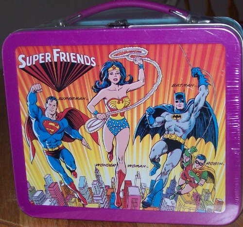 Super Friends Small Metal Lunch Box