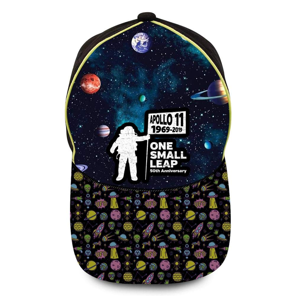 GIGIBO The Small Leap of Apollo 11 50th Anniversary Kids//Children Hip Hop Baseball Caps Adjustable Printed Hat