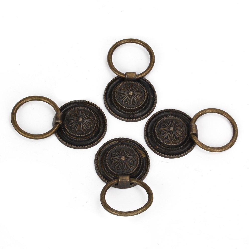 RDEXP Vintage Bronze Jewelry Box Dresser Cabinet Chest Drawer Pull Knob Handle Set Of 4 RDEXPAM RDN130512016