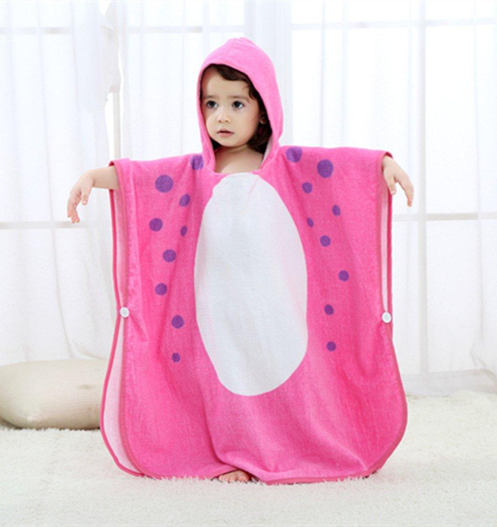 Zilee Kids Hooded Poncho Bath Towel - Boys Girls Cotton Bathrobe Swim Beach Blanket by Zilee (Image #3)