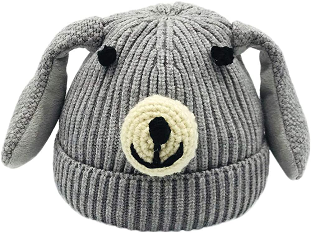 Lavany Little Baby Hat Boys Girl Cute Dogs Winter Knit Beanie Warm Hat for 0-6 Years