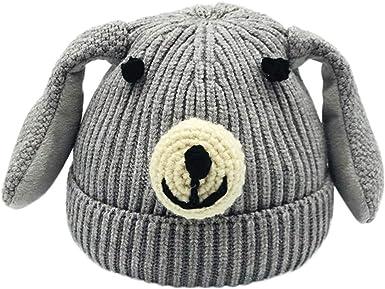 Vinjeely Kids Infant Toddler Fur Lined Scarff Cute Ear Warm Winter Hat Headgear Baby Boys Girls Beanie Cap