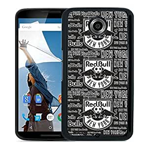 New Fashion Custom Designed Skin Case For Google Nexus 6 With New York Red Bulls Black Phone Case 13