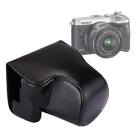 Full Body Camera PU Funda de piel Bolsa con correa for Canon ...