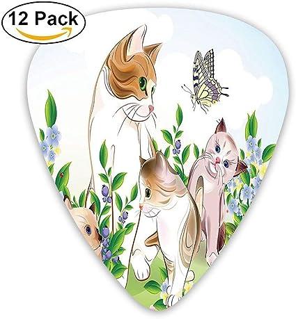 Lindos gatitos en Flower Meadow Field Happy Cats Familia con ...