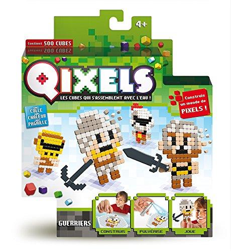 Asmokids Qixels - Kk87003 - Mini Kit 4 Créations - Thème Guerriers Perles