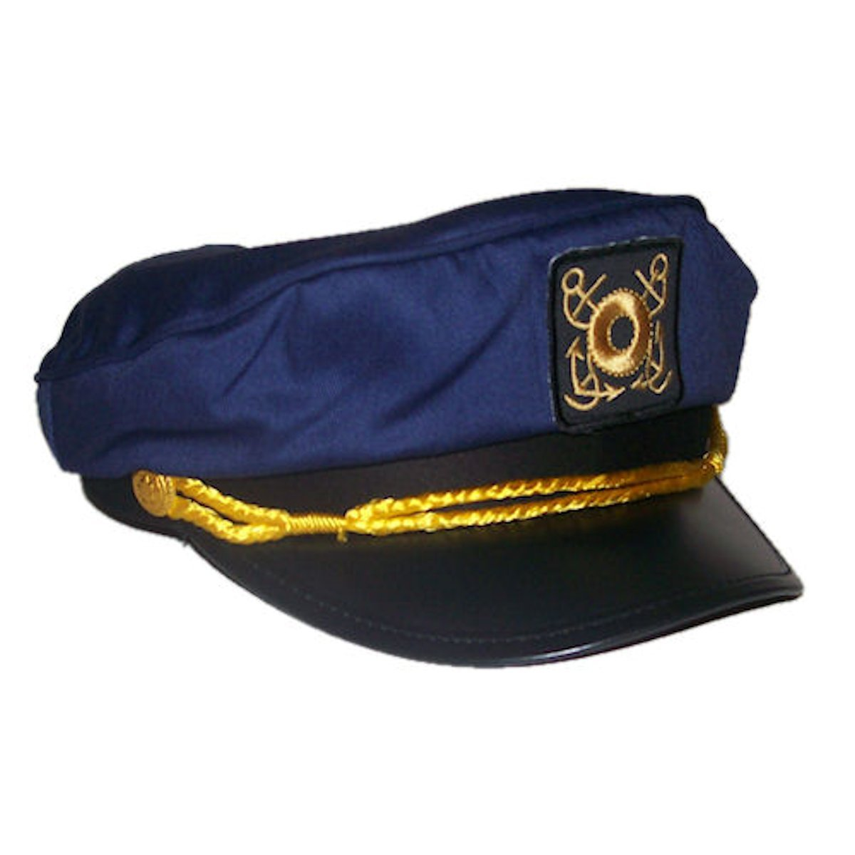 RTD Trading Adult Deluxe Yacht Captain Sailor Hat Adjustable (Navy Blue)