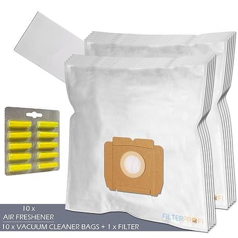 28 aspiradora 10 bolsas tejidas con 2 filtros adecuados para AEG gr