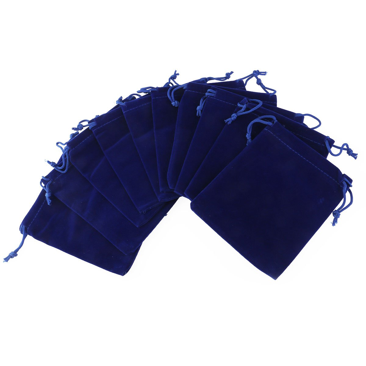 Wedding Favor Gift Bags Velvet Drawstring Candy Bags Jewelry Pouch Pack of 10 (Dark Blue) VORCOOL