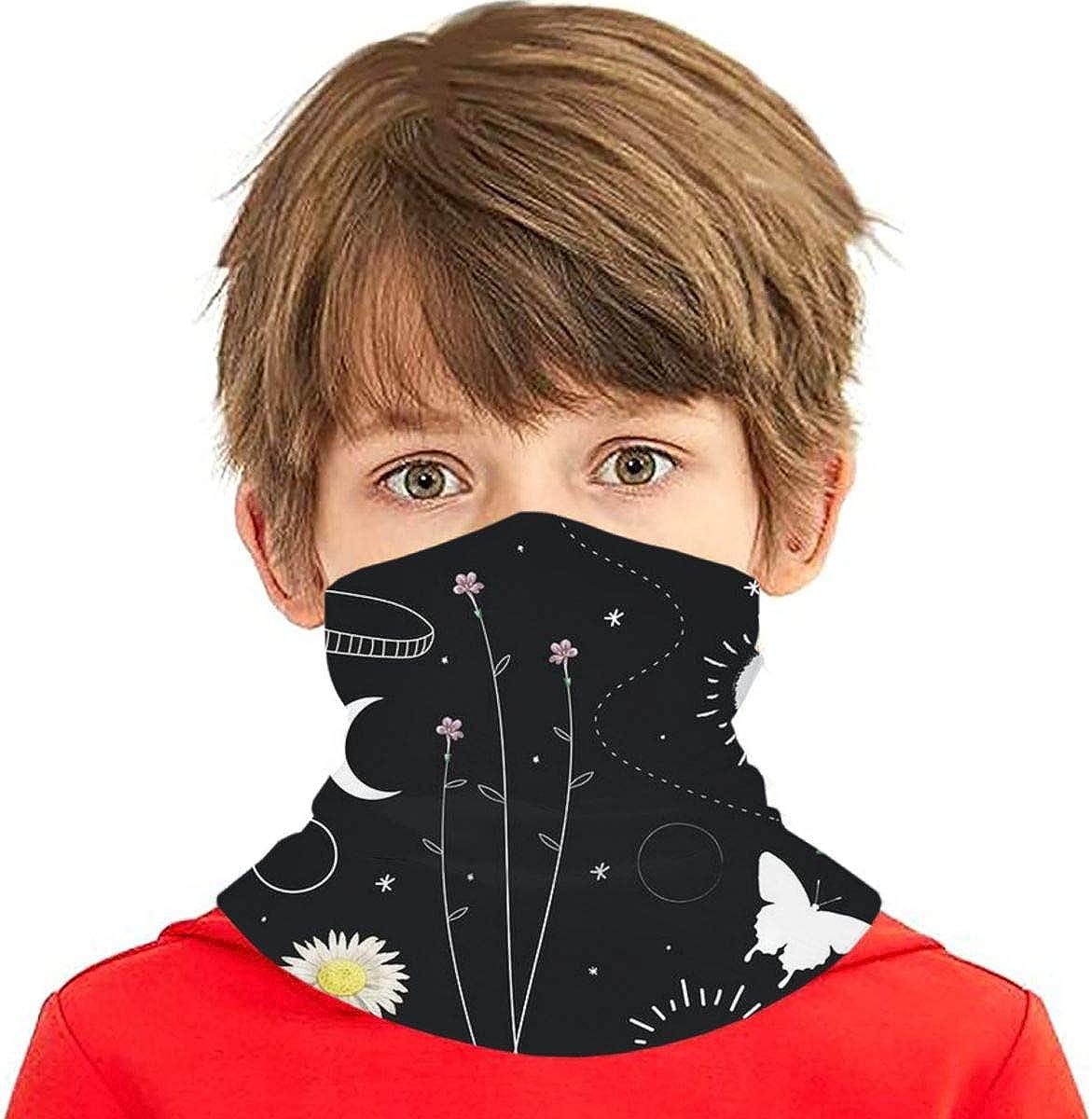 Boys Girls Kids Glitter Cameras Neck Warmer Gaiter Head Wrap Face Balaclava Windproof Bandana Ski Balaclava